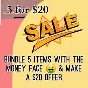5/$20 Closet Sale